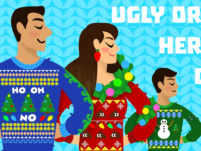 Ugly Sweater Party Illustration