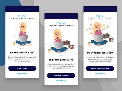 Onboarding screen design illustration spot illustration design mobile illustration screen application app
