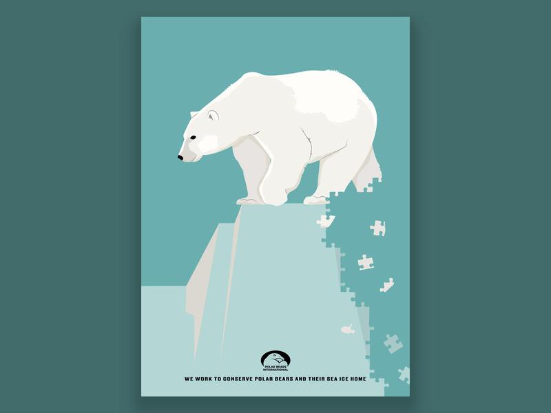 Polar bear poster design polar bear vector flyer design flyer poster illustration digital art