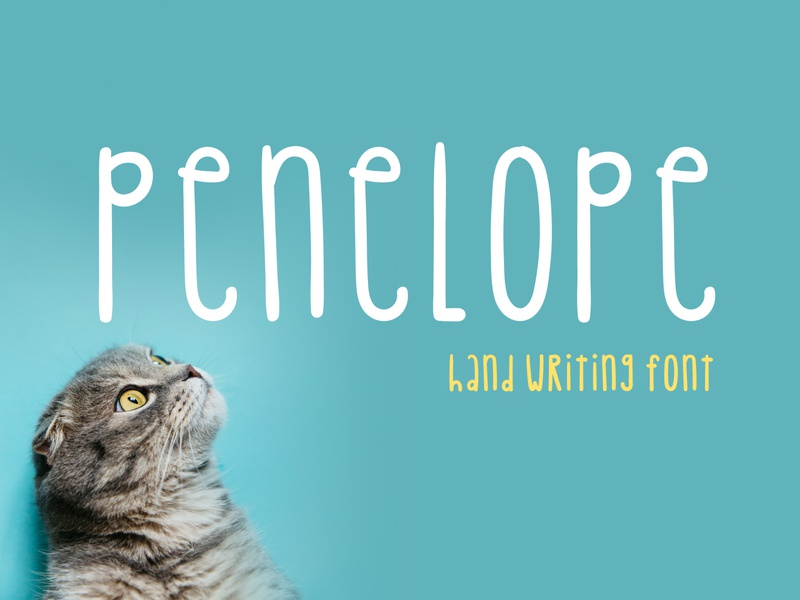 Penelope Font friendly craft handmade handcraft type font otf branding logo tall font design lettering handwritten