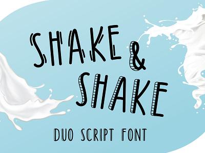 Shake & Shake Skinny Handwritten Duo Font skinny handmade craft logo cute friendly handwritten handcraft branding type lettering font