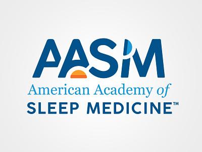 American Academy of Sleep Medicine geometric minimal healthcare medical sleep rebrand