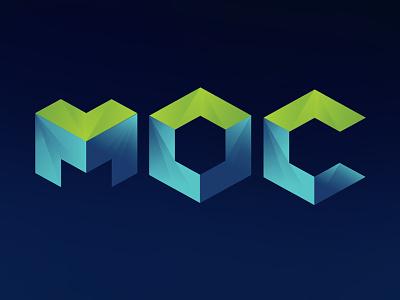 Geometric Lettering logo gradient 3d letter moc lettering geometric