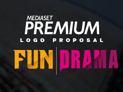 Mediaset Premium Fun & Drama graphic design logo typography logo design whimsical brains branding tv channel mediaset premium premium drama premium fun mediaset