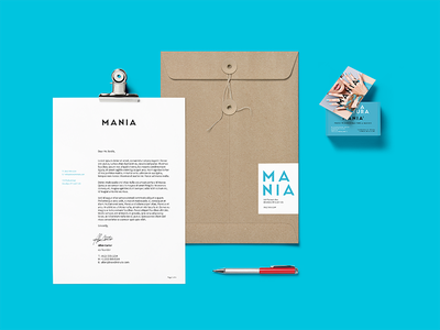 Mania - Branding logo branding typography graphic design whimsical brains print design nail art fashion smac mania