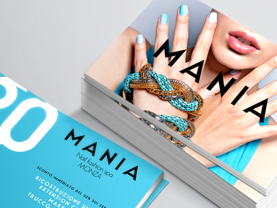Mania - Sale Cards logo branding typography graphic design whimsical brains print design nail art fashion smac mania