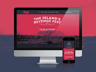 Mazara Rock Festival website vintage punk hardcore the islands revenge fest music festival tirf palermo graphic design web design mazara rock festival