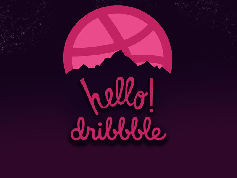 hello dribble branding animation logodesign designer logo dribbble invite dribbble hello hello dribble illustration design