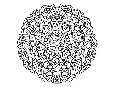 Mandala 12 art line mandalas illustration ilustracion mandala