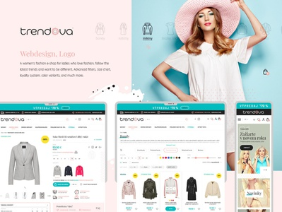 Trendova | Webdesign & Logo icon logo ux ui design