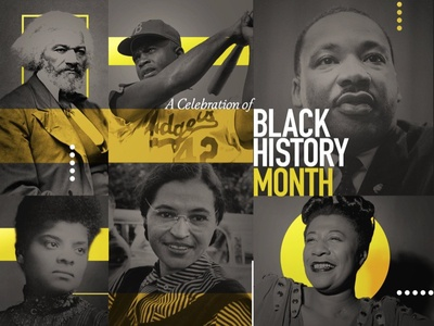 Black History Month ella fitzgerald rosa parks ida b. wells mlk martin luther king jr. jackie robinson frederick douglass black history month