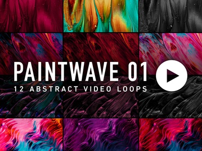 Paintwave 01 (12 Abstract Video Loops)