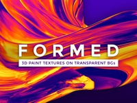 3D Abstract Paint Shapes