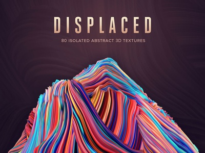 Displaced: 80 Isolated Abstract 3D Textures transparent background isolated dimension abstract abstract art resource design resource 3d photoshop brush abstract texture texture