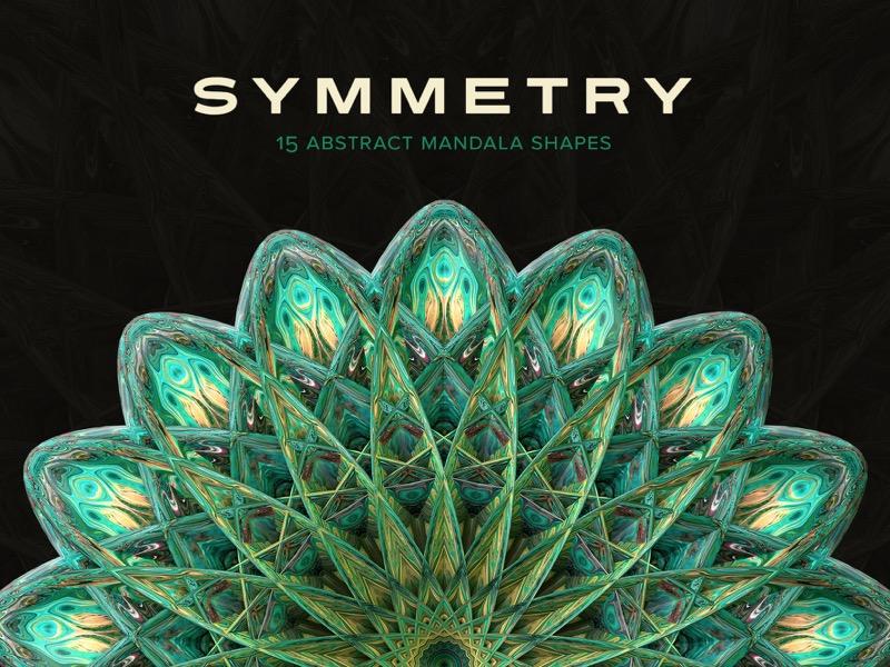 Symmetry mandala reflect symmetrical symmetry abstract