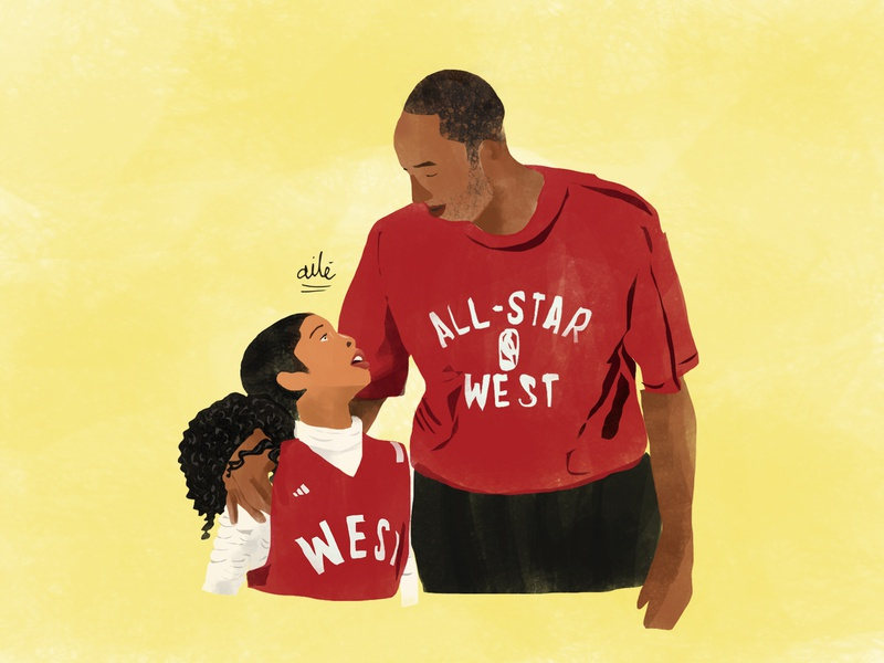 Kobe and Gigi basketball design digital illustration illustration gianna bryant kobe bryant kobebryant
