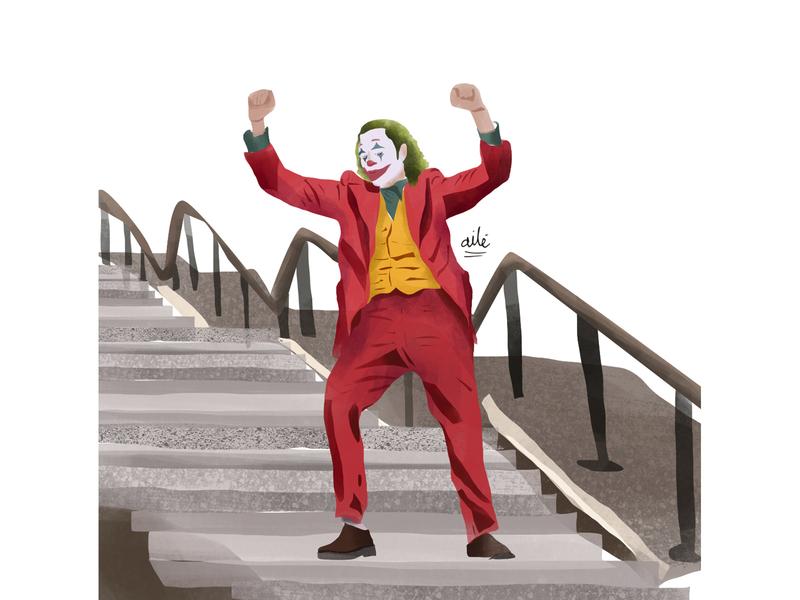 The Jocker movies oscars illustration digital digital illustration design illustration illustrator jocker joaquin phoenix the jocker