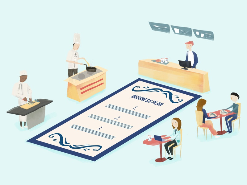 How to create a restaurant business plan from the ground up cooking business illustration hourly digital illustration design illustration restaurant branding business plan business entrepreneurship entrepreneurs entrepreneur restaurant