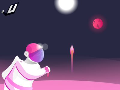 Unicorn One knowledge base pink helpdocs space helmet planet startups space