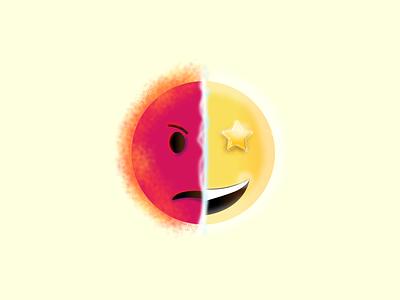 Mad vs. Starry Eyed mad star evil good emoji