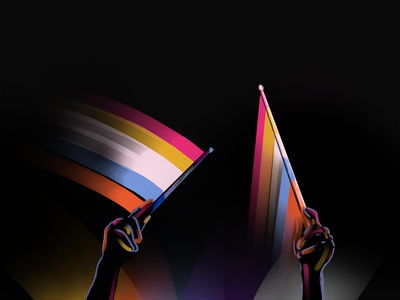 Drummer in Color procreate stripes glow highlight color dummer
