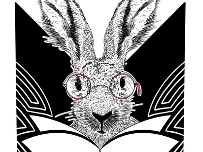 HelpDocs Hare animal black white pink knowledge base rabbit hare
