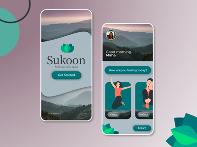 Mental Well-being App UI mobile ui mentalhealth modern app design mobile app ux ui design ui