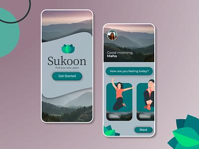 Mental Well-being App UI mobile ui mentalhealth modern app design mobile app ux ui design ui