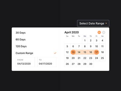 Date Range Picker calendar date picker date range picker