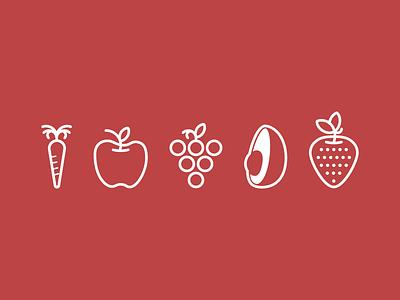 Fruity Wip icon wip fruit produce logo