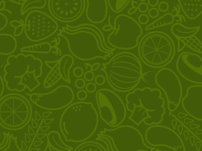 Veggie Tales icon vegetables produce repeat pattern