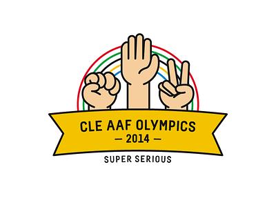 Super Serious logo rock paper scissors cleveland aaf cle