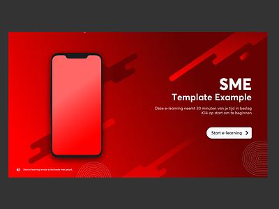 SME template branding illustrator e-learning ui design