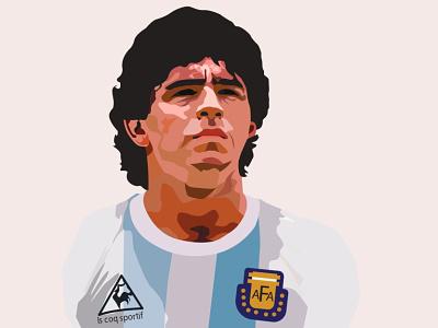 <3 deigo maradona fooball ui illustration color illustraion digital vector sketch illustrator drawing design
