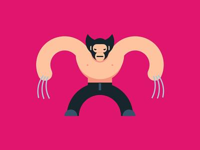 Wolverine xman logan wolverine basketball illustration color illustraion digital vector sketch illustrator drawing design