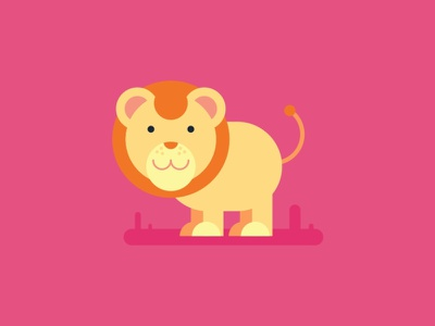 Lion lion ui illustration color illustraion digital vector sketch illustrator drawing design