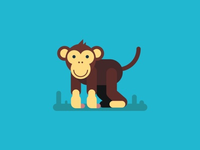 Monkey monkey color illustraion digital vector sketch illustrator drawing design