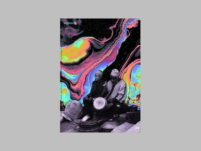 Poster psychedelic morocco black affiche poster