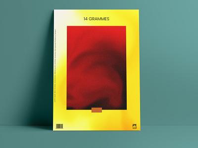 14 Grammes poster flyer yellow poster affiche design