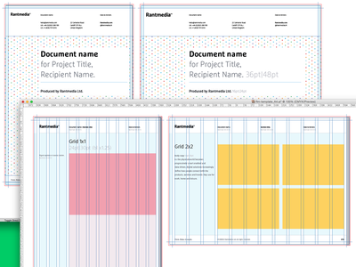 Brand Stationery slides pages guides layout
