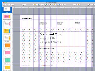 Brand ID Keynote Theme branding guides stationery template theme keynote