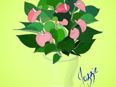 Anthurium graphic design digital drawing sketch illustration vector illustration logo vector graphics vector plant