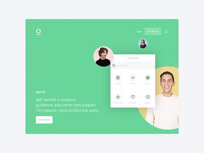 Elevio Concept Homepage success customer website app landing home homepage concept elevio