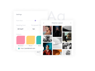 Bokeh - Add a personal touch theme layout style personal homepage landing page waitlist photography portfolio photographer photos bokeh