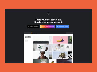 Bokeh Onboarding email google instagram onboarding signup app website portfolio photos collection gallery photography bokeh