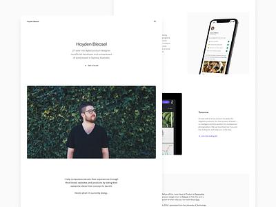 Personal Rebrand 2021 nextjs product designer design focus simple 2021 website personal branding personal