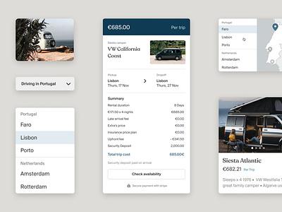 Siesta Campers Design System design system travel ipad home europe portugal rental van campers siesta