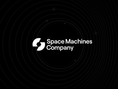 Space Machines Company Logo frontier orbit earth moon logo infrastructure economy logistics machines space