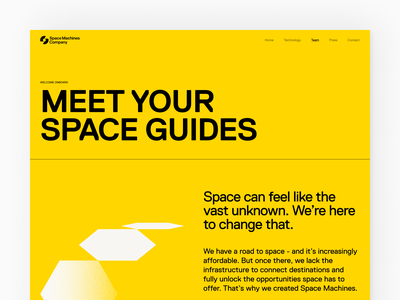 Space Machines Company Website home
