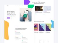 Erudito Homepage Design